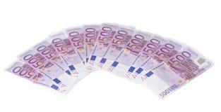 Molte euro fatture differenti Fotografie Stock