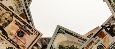 Molte fatture del dollaro Fotografie Stock Libere da Diritti