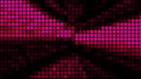 Molte file delle palle che cambiano colore - l'astrazione moderna, il fondo generato da computer, 3D rende illustrazione vettoriale