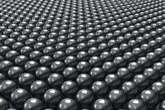 Fondo nero delle palle Fotografie Stock Libere da Diritti