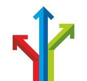 Molte frecce colorate Immagine Stock Libera da Diritti
