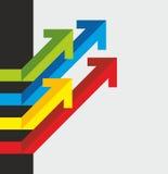 Molte frecce colorate Fotografia Stock