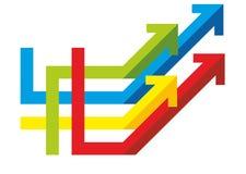 Molte frecce colorate Fotografie Stock Libere da Diritti