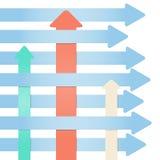 Molte frecce - sottragga il infographics di progresso Immagini Stock