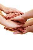 Molte mani sulla parte superiore Fotografia Stock Libera da Diritti
