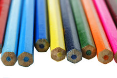 Molte matite colorate differenti Fotografia Stock