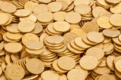 Molte monete dell'ucranino Immagini Stock