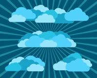 Molte nuvole in cielo astratto, strati separati Fotografia Stock