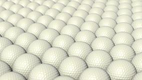 Molte palle da golf stanno muovendo senza fine illustrazione di stock