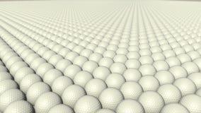Molte palle da golf stanno muovendo senza fine royalty illustrazione gratis