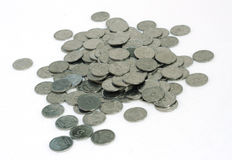 Molte piccole monete Fotografie Stock Libere da Diritti