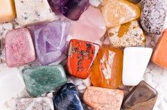 Molte pietre naturali differenti Fotografia Stock