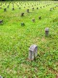 Molte pietre tombali Fotografia Stock