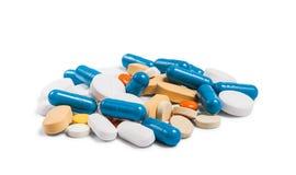 Molte pillole e capsule variopinte Immagine Stock Libera da Diritti