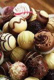 Molte praline del cioccolato di variet?, pralina gastronomica del cioccolato della confetteria belga fotografia stock