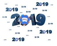 Molte progettazioni della mazza 2019 con molti chip illustrazione di stock