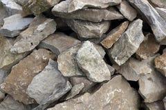 Molte rocce ruvide Fotografia Stock