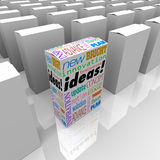 Molte scatole delle idee - una scatola differente del prodotto sta fuori Immagini Stock Libere da Diritti