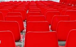 Molte sedie della plastica Fotografia Stock Libera da Diritti