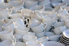 Molte tazze Fotografia Stock