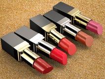 Molte tonalità dei rossetti Immagini Stock