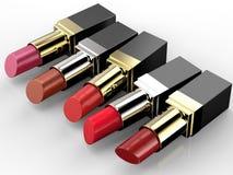 Molte tonalità dei rossetti Fotografie Stock