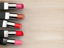 Molte tonalità dei rossetti Immagine Stock