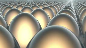 Molte uova dei colori differenti illustrazione vettoriale