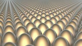 Molte uova dei colori differenti illustrazione di stock