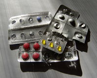 Molte varie pillole Fotografia Stock