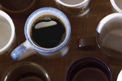 Molte varie tazze per tè o caffè Fotografia Stock Libera da Diritti