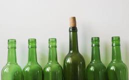 Molte vecchie bottiglie Immagine Stock