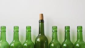 Molte vecchie bottiglie Immagini Stock