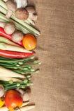 Molte verdure sul sacco Immagini Stock Libere da Diritti