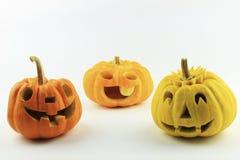 Molte zucche di Halloween Fotografie Stock