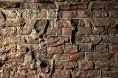 View of Molten brick wall. Molten brick wall. Close up royalty free stock photos