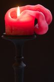 Molten candle Stock Photography