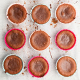 Molten chocolate cakes Stock Image