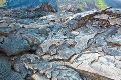 Molten cooled lava landscape Stock Photos