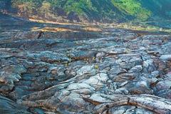 Molten cooled lava landscape Stock Image