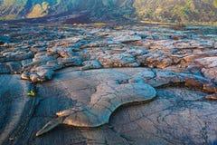 Molten cooled lava landscape Stock Images