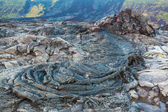Molten cooled lava landscape Royalty Free Stock Photography