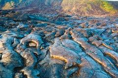 Molten cooled lava landscape Stock Photo