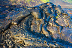 Molten cooled lava Stock Photography