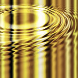 Molten gold ripples. Ripples in the liquid molten gold golden metal Royalty Free Stock Images