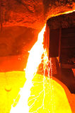 Molten hot steel Stock Photography