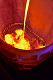 Molten hot steel Stock Photos