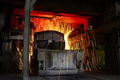 Molten hot steel Royalty Free Stock Images