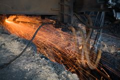 Molten iron Royalty Free Stock Images