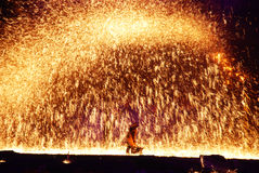 Molten iron flowe Stock Photography